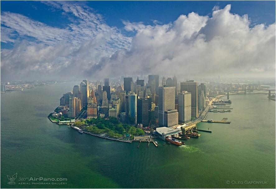 Visão do centro financeiro de Nova York, nos Estados Unidos, por Oleg Gaponyuk.