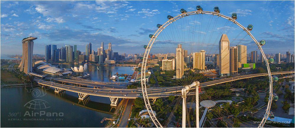 Centro da cidade de Singapura, em Singapura.