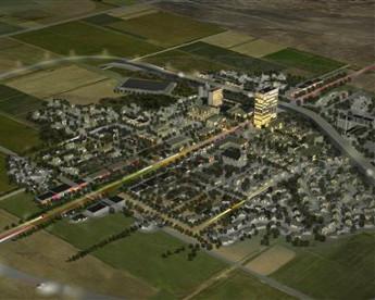 Uma cidade fantasma futurista de R$ 4 bilhões no meio do deserto