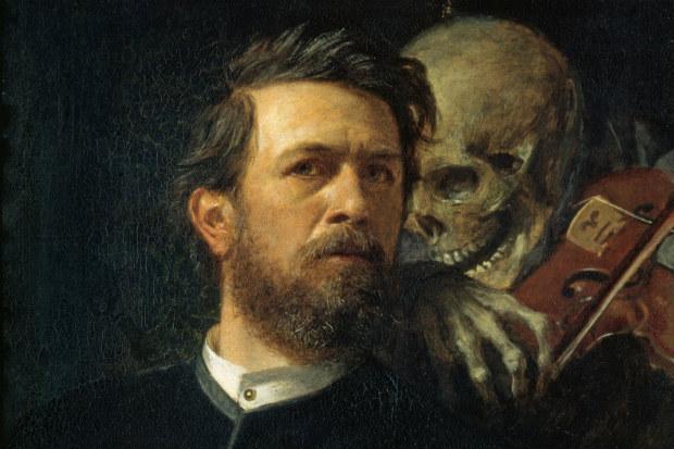 Auto-retrato de Arnold Böcklin (1872).