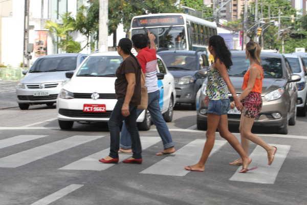 Faixa de pedestres. Nando Chiappetta/DP