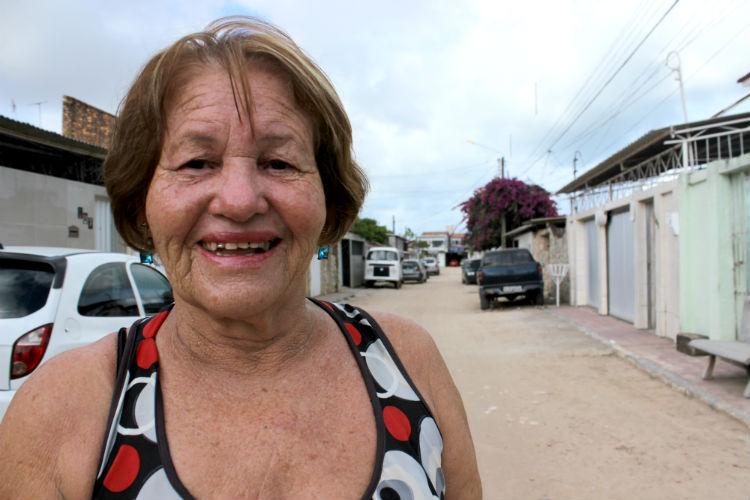 Marlene Santos, uma das moradoras mais antigas da segunda etapa. créditos: Paulo Trigueiro/Esp. DP.