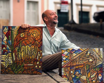Ele trocou a PM de São Paulo por arte nas ladeiras de Olinda