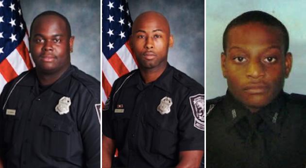 Timothy Harden, Quhanna Lloyd e Travis Jones atenderam ao chamado. Jones levou um tiro no quadril na confusão. créditos: Georgia Bureau of Investigation.
