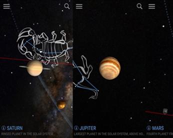 Aplicativo identifica estrelas e planetas via câmera de mobile