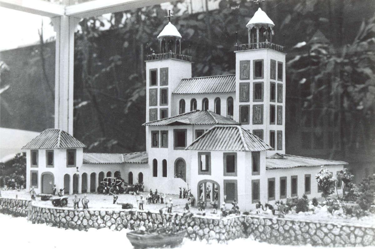Maquete do Palácio de Friburgo. Heitor Cunha/DP