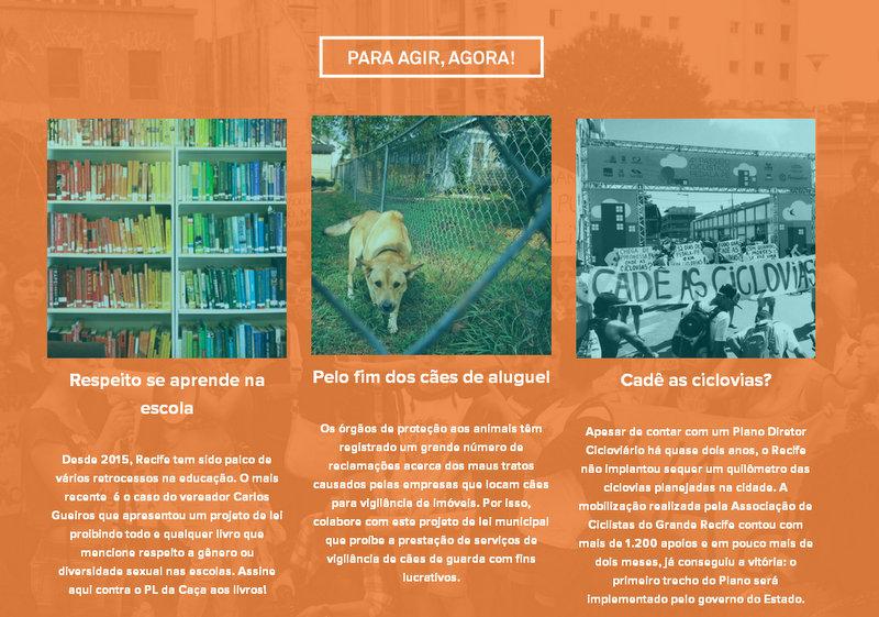 Meu Recife expõe suas mobilizações através de sua página na internet