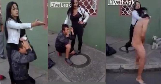 Mulher reage a roubo e faz ladrão fugir pelado