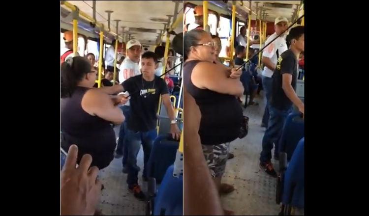"""PA: mulher é atingida por """"flecha perdida"""" em ônibus"""