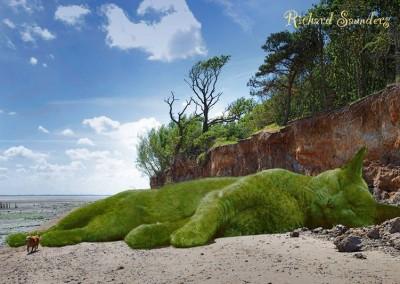 gato gigante arbusto praia