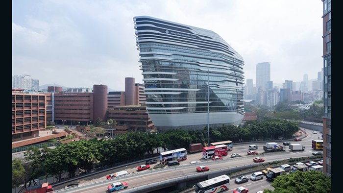 Jockey Club Innovation Tower, Zaha Hadid Architects (Hung Hom, China)