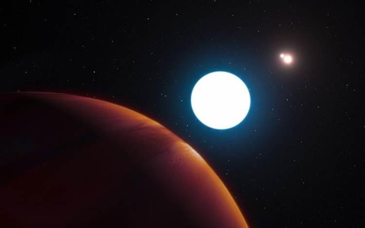 Planeta iluminado por três estrelas intriga a ciência
