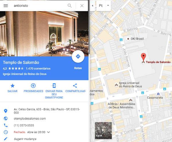 Google Maps/Reprodução