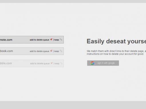 Site apaga todas suas contas virtuais de uma só vez