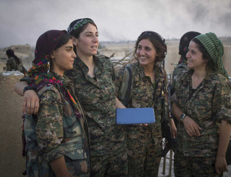 Kurdish YPG Fighters/ Flickr