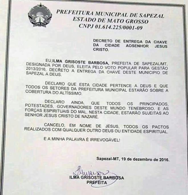 Prefeitura de Sapezal/Reprodução