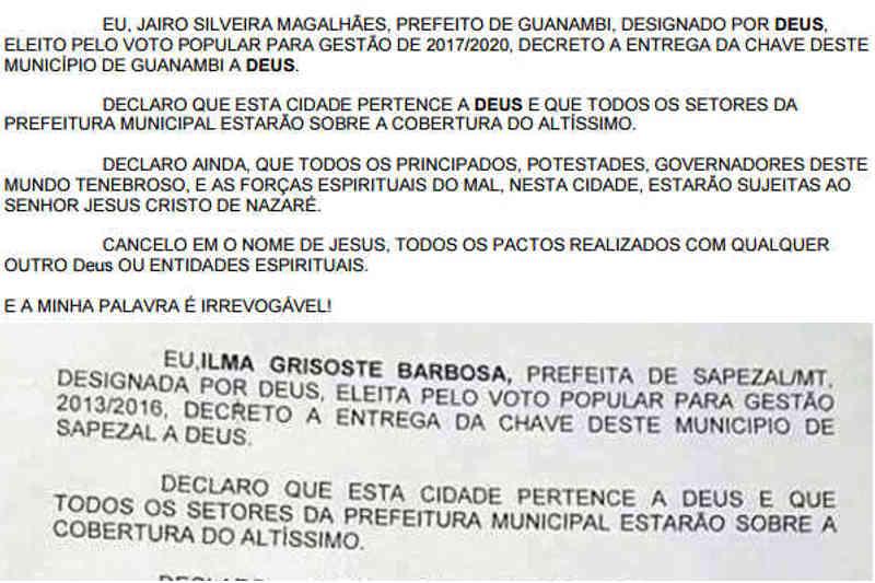 Diário Oficial de Guanambi/Prefeitura de Sapezal/Reprodução
