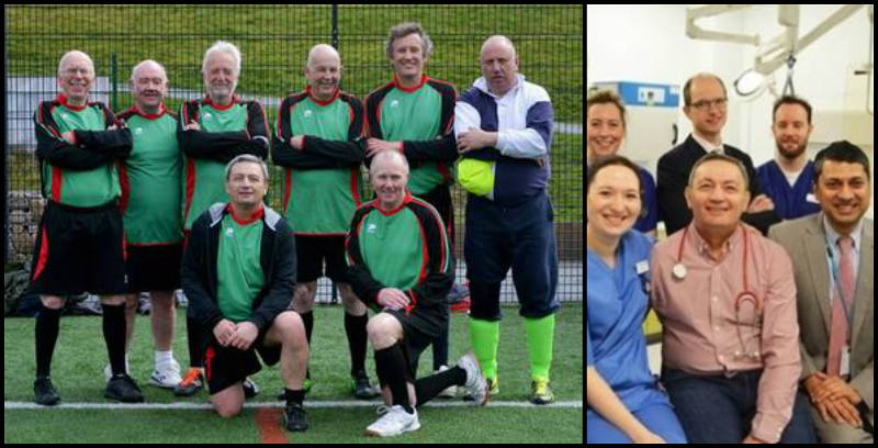 Walking Football/Facebook e Worcestershire Royal Hospital/Divulgação