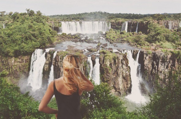Cassie em Foz do Iguaçu. Foto: Expedition_196/Instagram