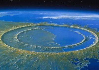 Cratera de Chicxulub esconde respostas sobre origem da vida