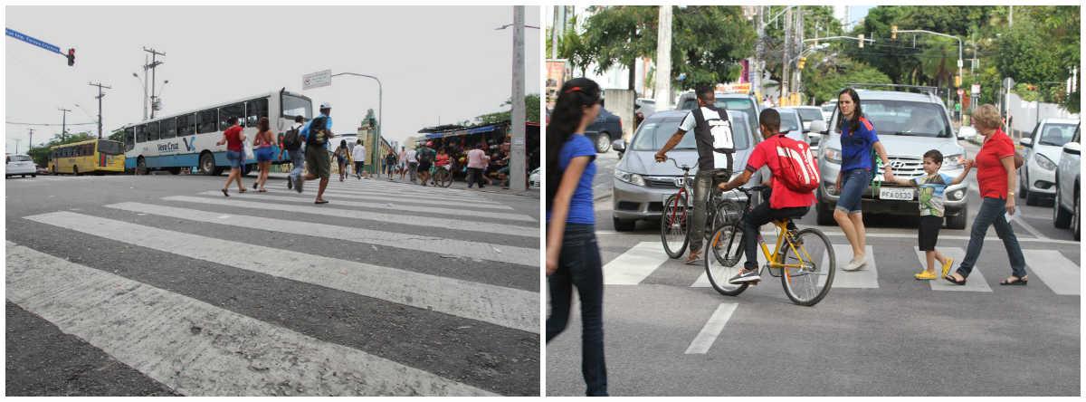 Pedestre é protagonista em vias do Centro e de Casa Forte. Fotos: Nando Chiappetta/DP