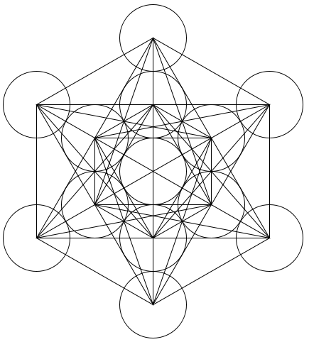 Cubo de Metatron - Wikipedia/Reprodução