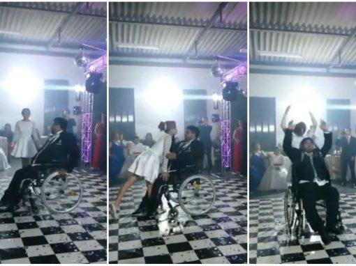 Noivo cadeirante emociona convidados com dança de casamento