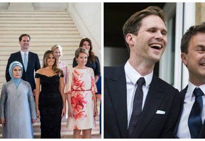 """""""Primeiro-marido"""" rouba a cena em foto com as primeiras-damas"""