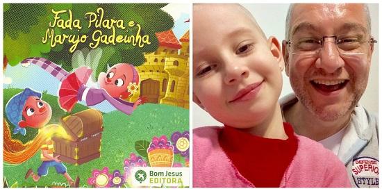 Pai cria livro para ajudar filha em tratamento de câncer