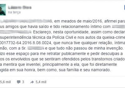 Justiça obriga homem a desmentir nas redes sociais que teve caso com desconhecida