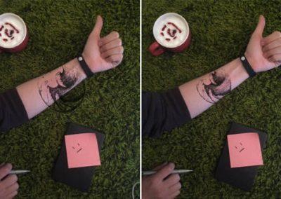 Aplicativo permite projetar desenho no corpo antes de fazer tatuagem