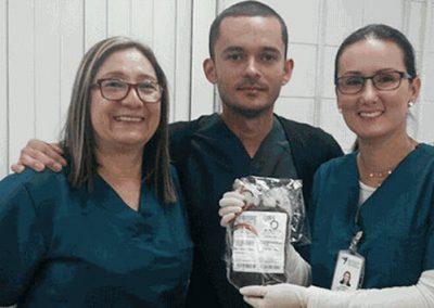 Sangue raro de jovem nordestino salva bebê colombiano
