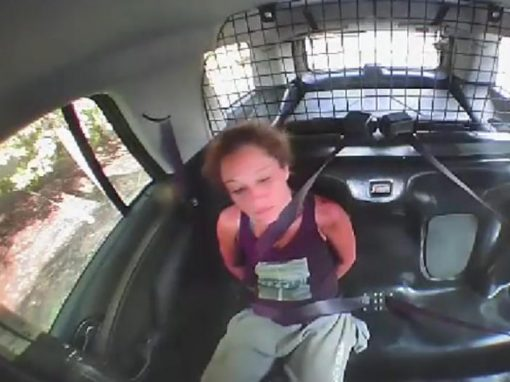 Algemada, mulher rouba viatura policial para fugir