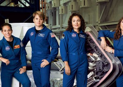Equipe formada só com astronautas mulheres pode ser ideal para missões