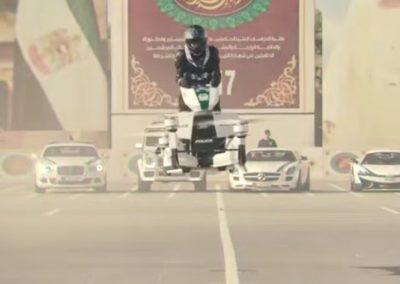 Motos voadoras serão utilizadas para ronda policial em Dubai