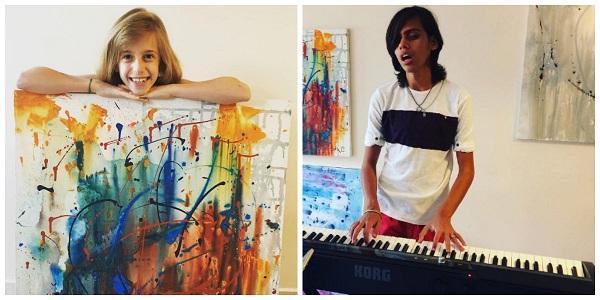 Artista de 8 anos vende telas para pagar cirurgia de amigo com glaucoma