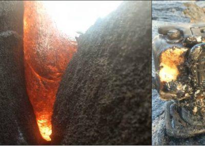 Câmera resiste ao ser engolida por lava e produz imagens ao derreter