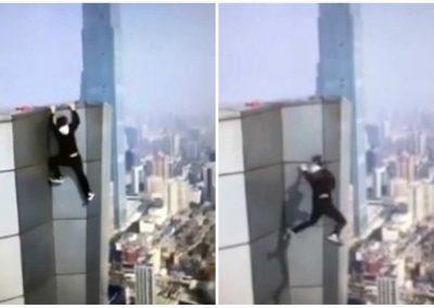 Homem filma própria queda do 62º andar de prédio durante acrobacia