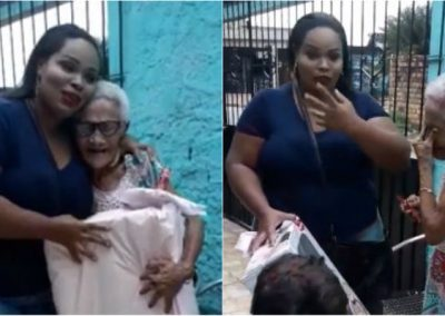 """Realizando """"sonho"""", neta presenteia avó com boneca e emociona internet"""