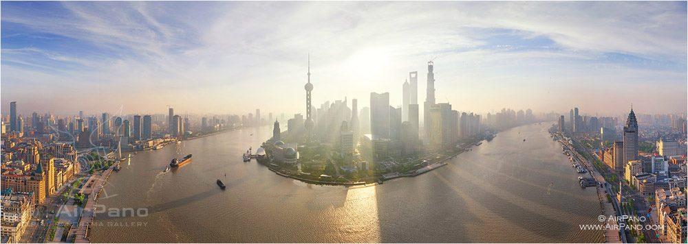 Manhã em Xangai, na China.