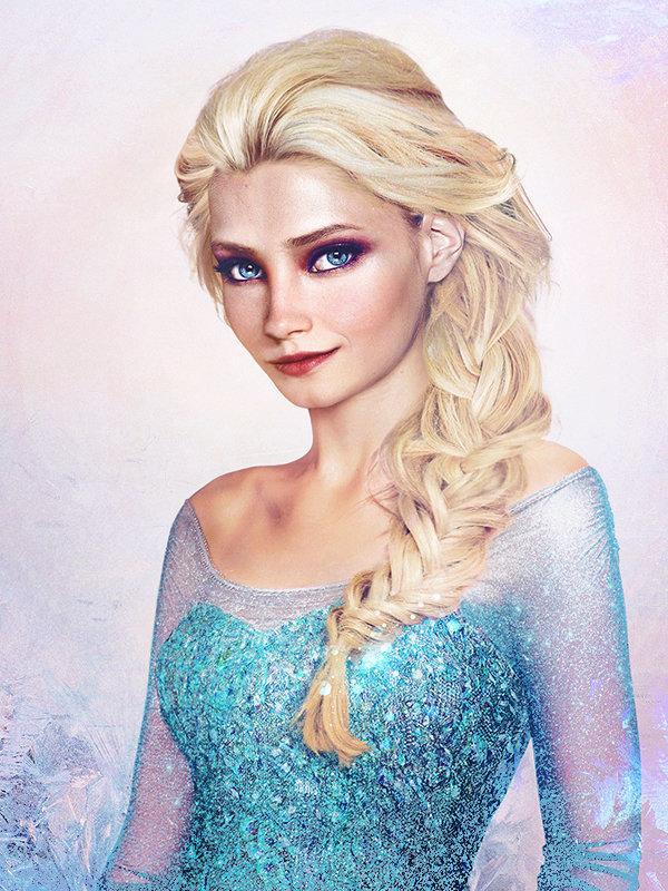 "Princesa Elsa, de ""Frozen - Uma Aventura Congelante"""