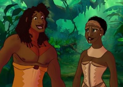 Simba e Nala _ O Rei Leão