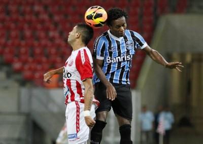 Náutico e Grêmio, em novembro de 2013