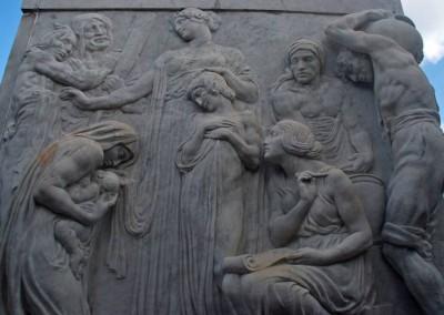 ...tanto em bronze, quanto no concreto e argamassa calcária