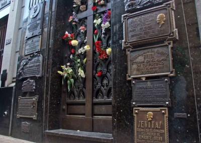 Túmulo de Evita Perón, o mais visitado
