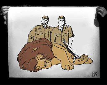 Artista cria ilustrações com personagens da Disney como vítimas de caça