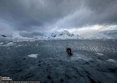 """Nem está frio"" (Antártida), Fisheyes Alex"