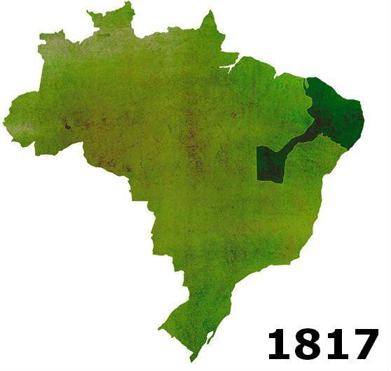 Ceará, Rio Grande do Norte e Paraíba são adicionados à República de Pernambuco