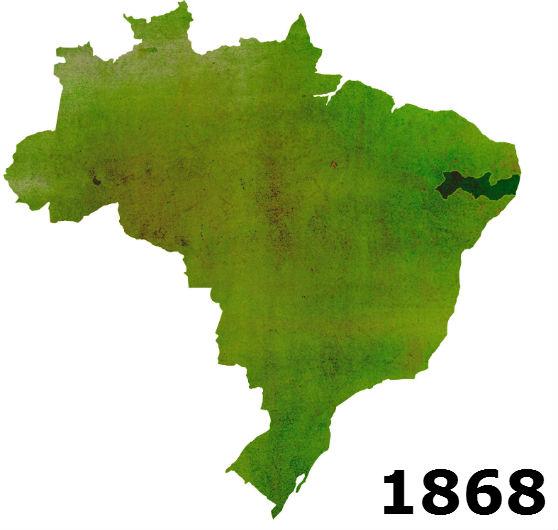 O território não mudou desde 1824, mas a cartografia evoluiu e hoje é capaz de mostrar o formato exato do estado. O mapa mais antigo do IBGE com esse formato é de 1868