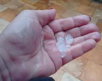 Nova chuva de granizo atinge o Sertão, agora em Sertânia